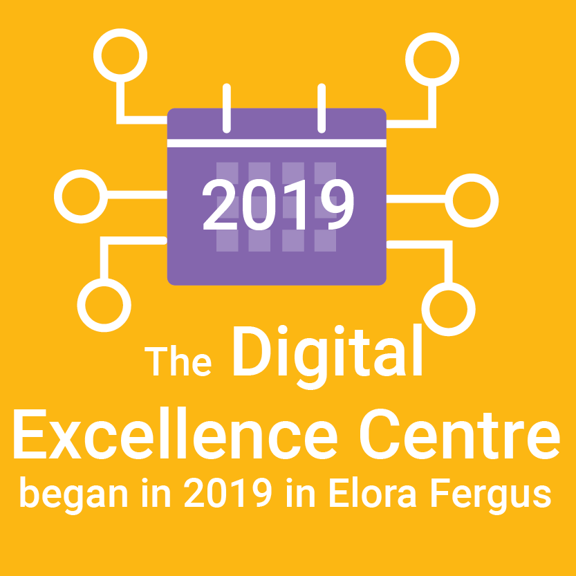 2019, The digital excellence centre began in 2019 in elora fergus
