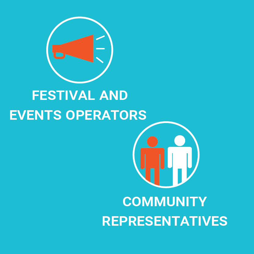 Festival and events operators and community representatives illustration
