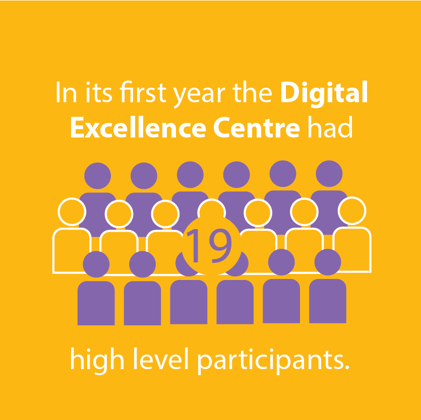 In its first year digital excellence centre had 19 high level participants illustration