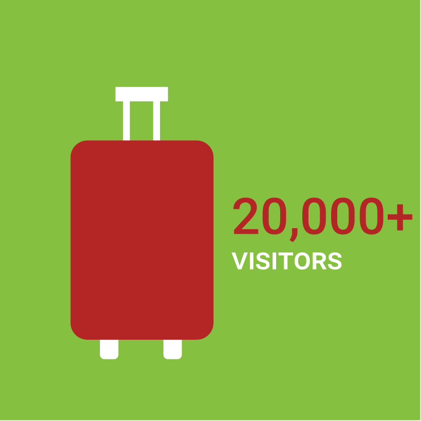 20,000 plus visitors illustration