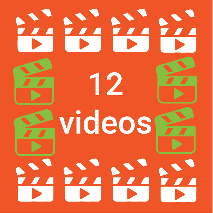 12 videos illustration