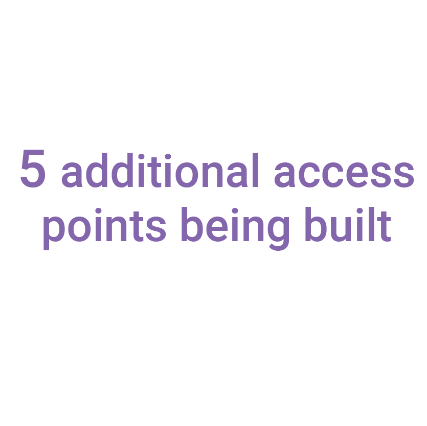 5 additional access points being built