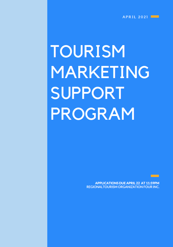 Image of the title page. Title: Tourism Marketing Support Program